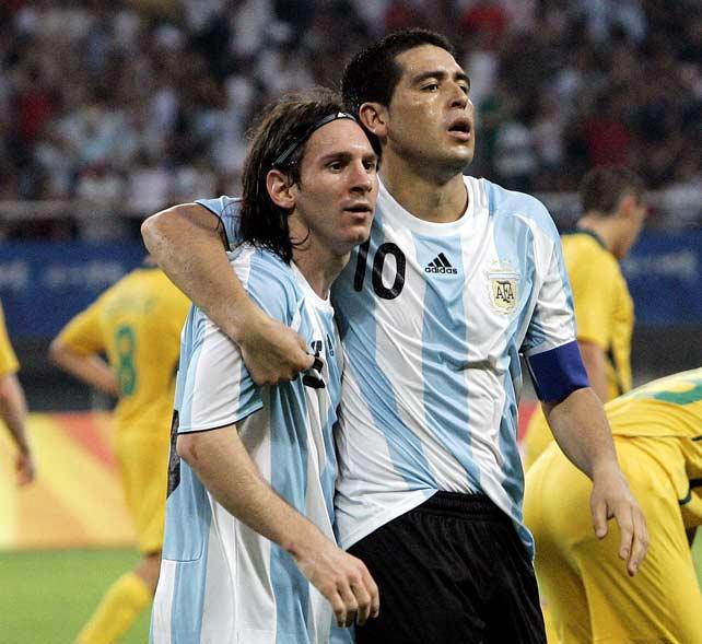 Image Result For Riquelme Y Messi