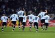 Argentine players celebrate after beating Colombia during the 2015 Copa America football championship quarterfinal match in Vina del Mar, Chile on June 26, 2015. Argentina won 5-4 in penalty shootout.  AFP PHOTO / LUIS ACOSTA        (Photo credit should read LUIS ACOSTA/AFP/Getty Images)