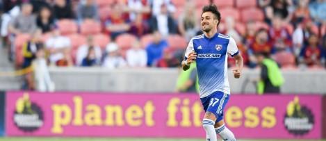 Maxi Urruti - DAL - celebrates penalty goal v. RSL - 5-6-17