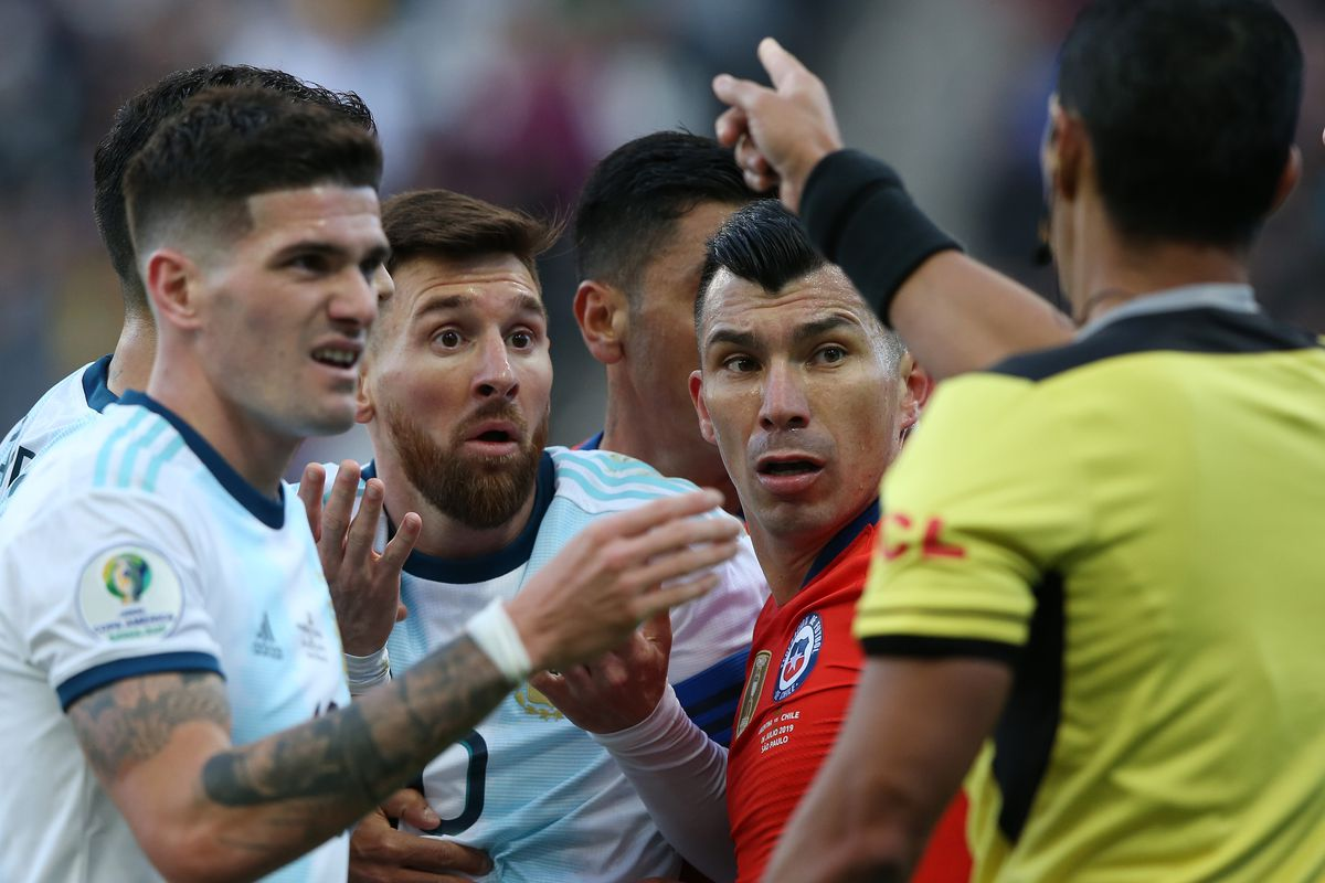Argentina Seal Third Place But Lionel Messi Fumes Over Conmebol Corruption After Red Card Video Golazo Argentino